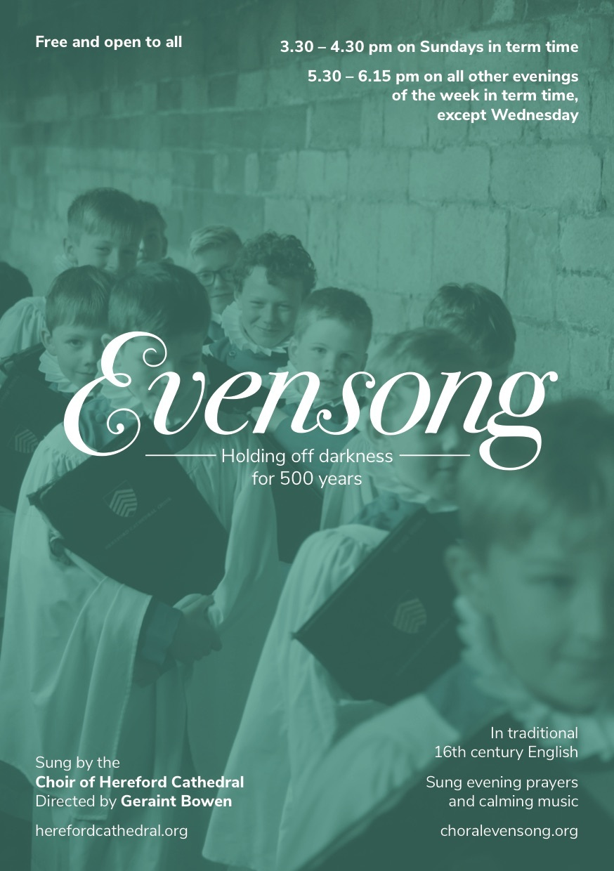A5 Flyer Campaign Launch For Local Publicity Choral Evensong